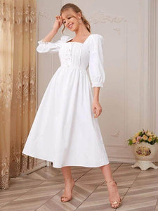 Lemon Tart Sweetheart Neck Long Dress LTAMD151