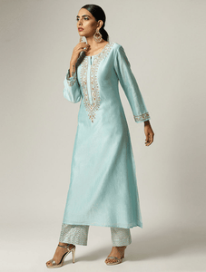 Lemon Tart Unstitched Blended Silk Embroidered Kurti WLUF9