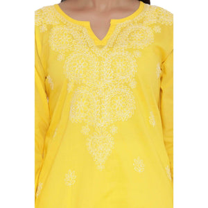 Lemon Tart Unstitched Cotton Chikinkari Embroidered LTCK3 Kurti
