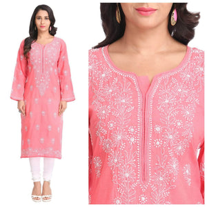Lemon Tart Unstitched Cotton Chikinkari Embroidered LTCK42 Kurti