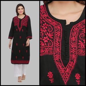Lemon Tart Unstitched Cotton Chikinkari Embroidered WLUF143 Kurti