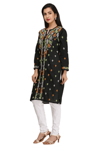 Lemon Tart Unstitched Cotton Chikinkari Embroidered WLUF65 Kurti