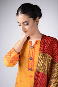 Lemon Tart Unstitched Cotton Embroidered 2 Piece Suit WLUF210
