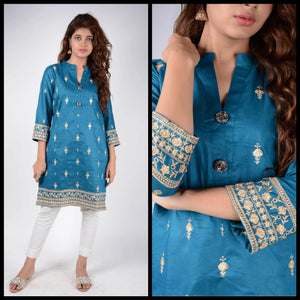Lemon Tart Unstitched Cotton Embroidered WLUF201 Kurti