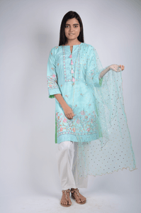 Lemon Tart Unstitched Cotton Embroidered WLUF234 2 Piece Suit