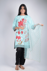 Lemon Tart Unstitched Cotton Embroidered WLUF243 2 Piece Suit
