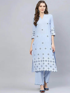 Lemon Tart Unstitched Cotton  Embroidered WLUF36 2 Piece Embroidered Suit