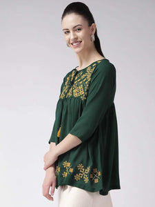 Lemon Tart WLUS200-GRE 1 Piece Embroidered Linen Unstitched Kurti