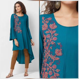 Lemon Tart WLUS86 1 Piece Embroidered Linen Unstitched Kurti