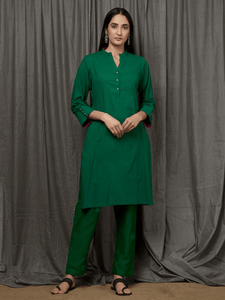Lemon Tart Women's LTS32 Straight Kurta and Pants Set - Green