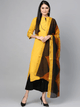 Lemon Tart Women's LTS89 Stitch Detail Kurta and Pants Set - Yellow