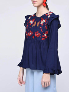 LT Fuse LTFUB36 Stitched Embroidered Top
