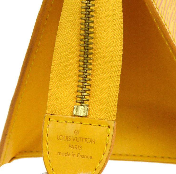 LOUIS VUITTON SAC TRIANGLE HAND BAG YELLOW EPI LEATHER M52099 A46524h
