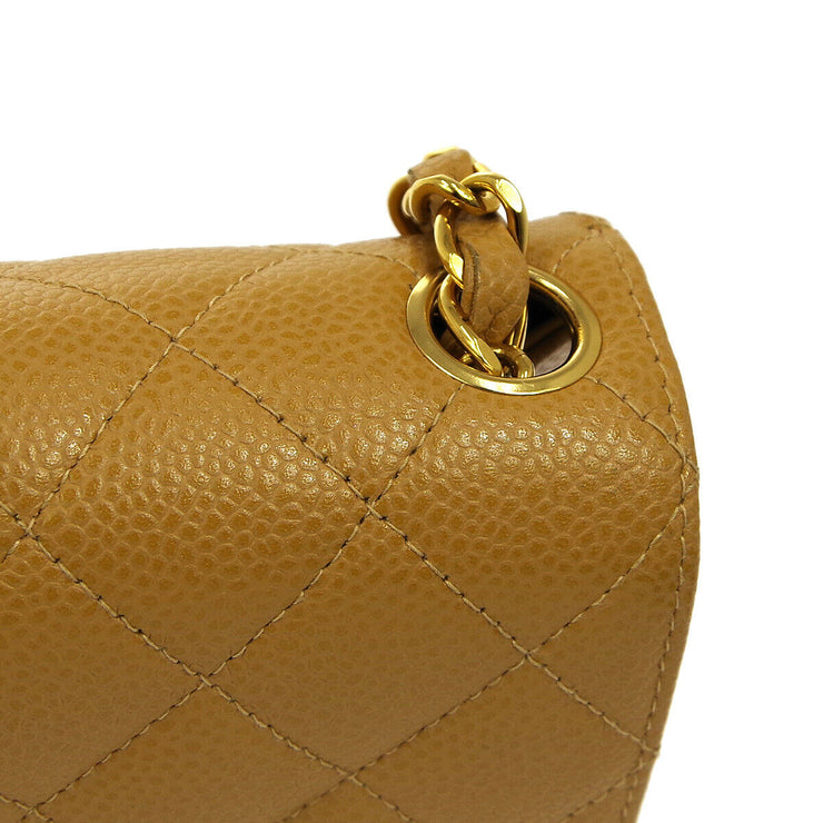 CHANEL Quilted CC Single Chain Shoulder Bag 8503555 Brown Caviar AK33219k