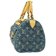 LOUIS VUITTON NEO SPEEDY HAND BAG INDIGO MONOGRAM DENIM M95019 A43846g