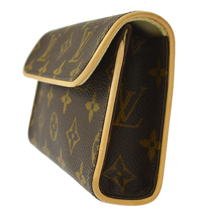 LOUIS VUITTON POCHETTE FLORENTINE BUM BAG MONOGRAM M51855 #XS AK31531f