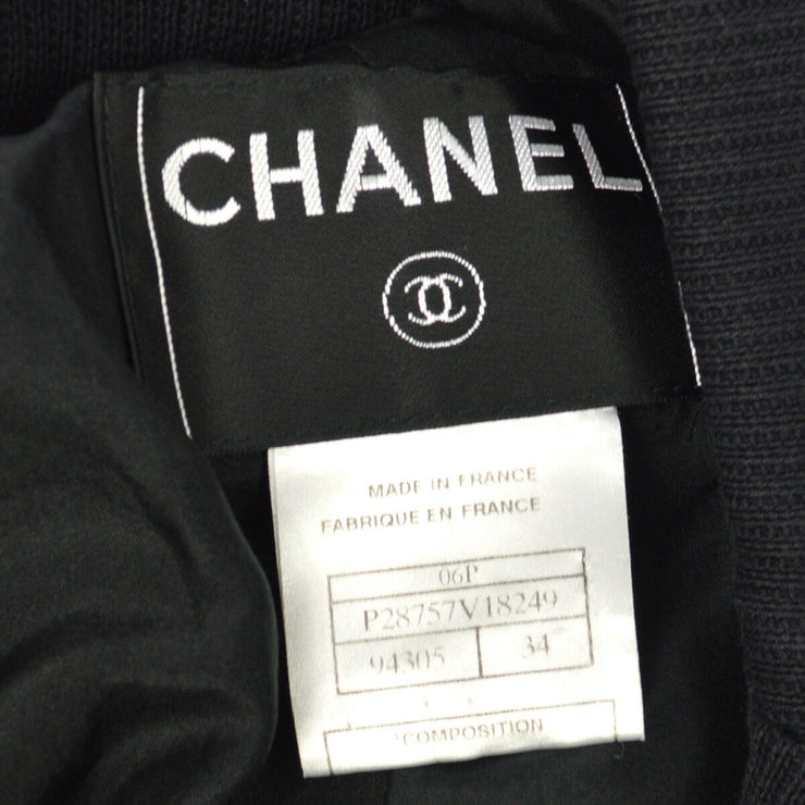 CHANEL Vintage CC Logos Sleeveless Vest Jacket Denim Blue AK31329d