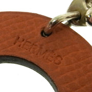 HERMES Vintage Paddock Horseshoe Leather Key Chain Holder Bag Charm AK31579c