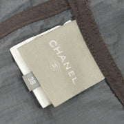 CHANEL CC Logos Zip-Up Jacket Brown Vintage Italy #38 AK25537k