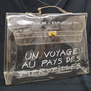 HERMES Vinyl Kelly Hand Beach Bag Clear SOUVENIR DE L'EXPOSITION 1997 AK38294f