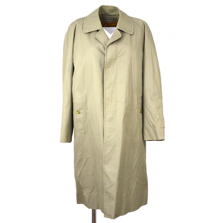 Burberry Long Sleeves Trench Coat Jacket Beige Cotton Single Breasted AK38563g