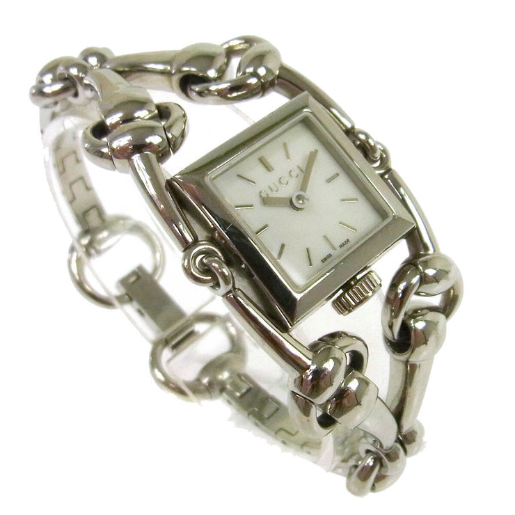 GUCCI Vintage Signoria Wristwatch Quartz Swiss Made Silver A43829g