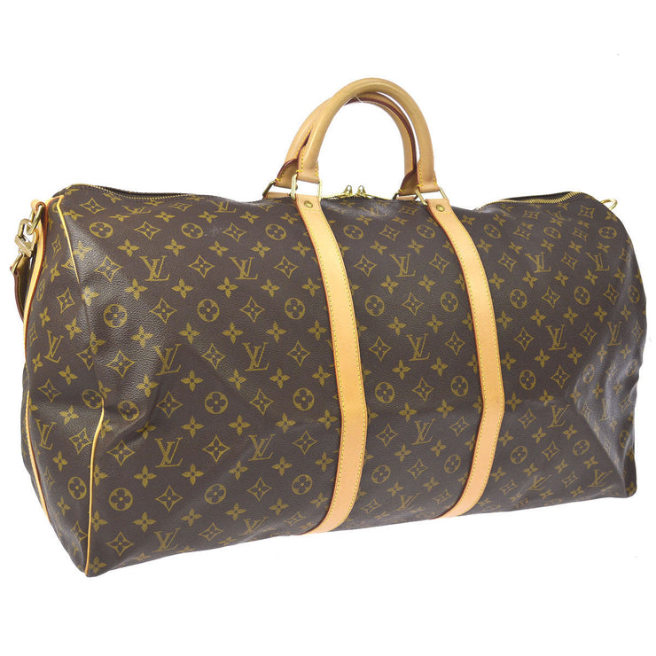 LOUIS VUITTON KEEPALL 60 BANDOULIERE 2WAY TRAVEL HAND BAG MONOGRAM AK31540e