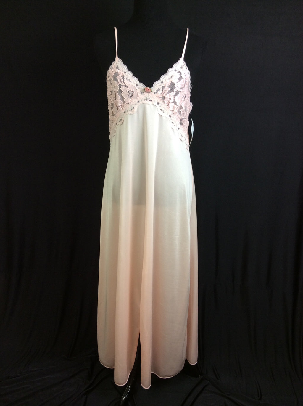 1970's Romantic Nylon Nightgown