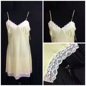 1960's Real Vintage Lime Green Full Slip