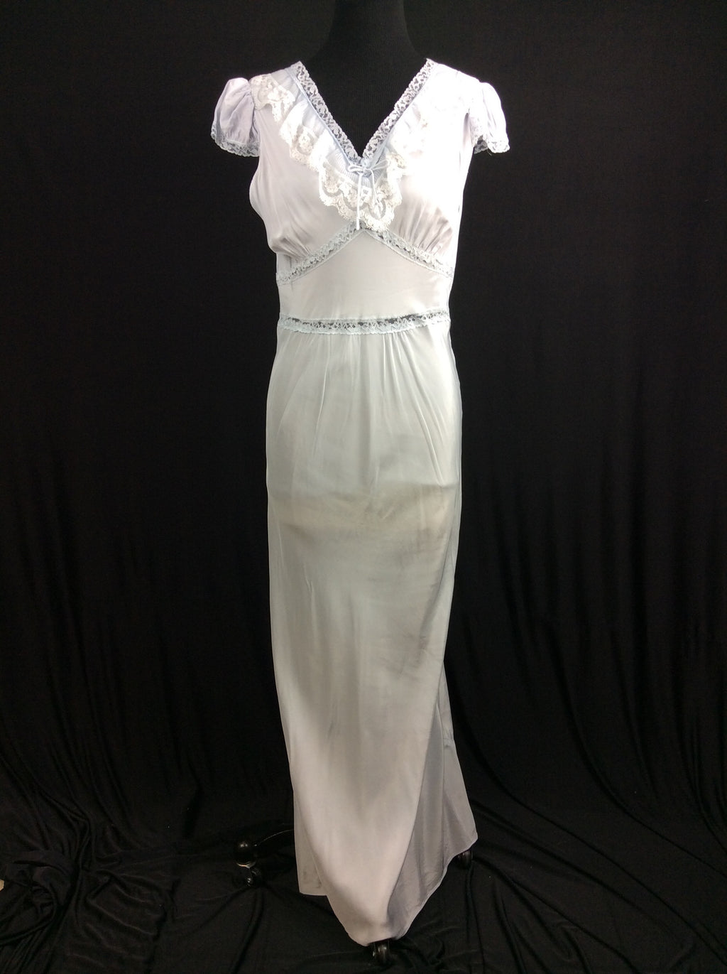 1940's Powder Blue Bias Cut Nightgown