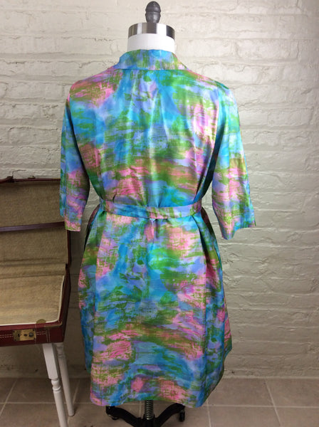 1960's Vintage House Dress Robe