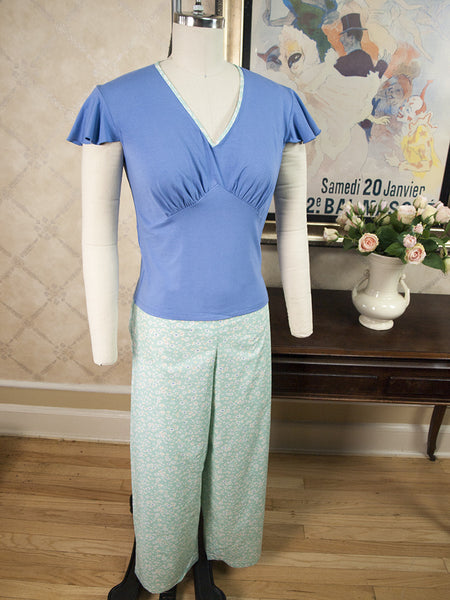 Aubrey Pajama Set - Corn Flower Blue