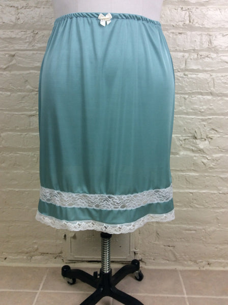 Sylvia Plus Size 1960's Reproduction Half Slip in Angel Blue
