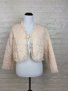 Vintage 1950's Quilted Bed Jacket