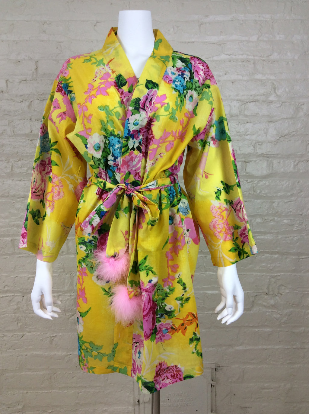 """Snapdragon"" Robe - Lemonade Yellow"