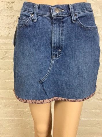Denim Refashioned Mini Skirt
