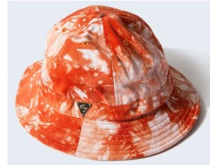 Tie Dye Bucket Hat with String - Orange