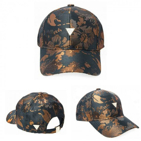 HATER Gold Embroidery Flower Cap