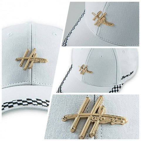 "HATer ""Sketch Logo"" Racing Cap - White"