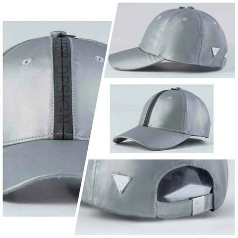 Unstructured Zipper Strapback - Reflective Silver