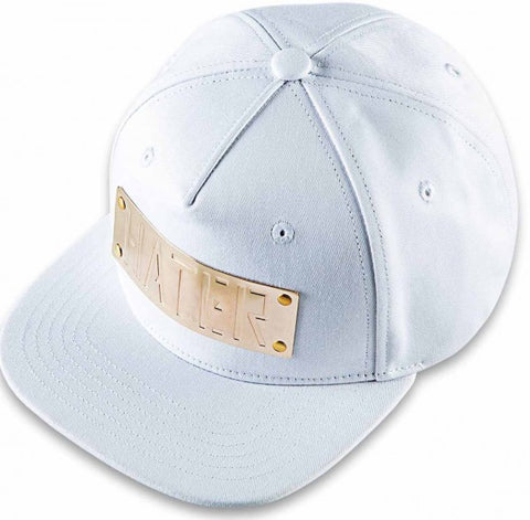 HATER Metal Plate Snapback - White