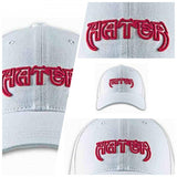 HATER Bat  Raised EMB. Cap - White