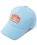HATer Flame Unstructured Snapback - Light Blue/Red/Orange