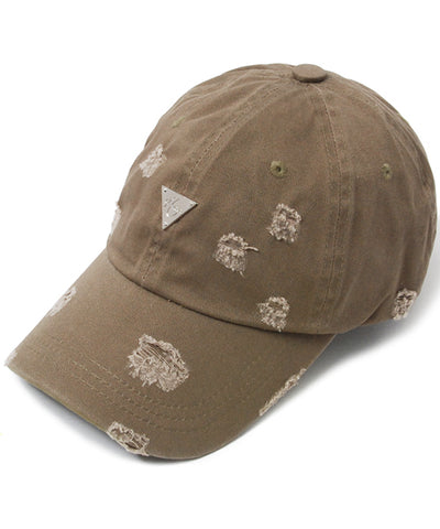 Unstructured Distressed Strapback - Tan