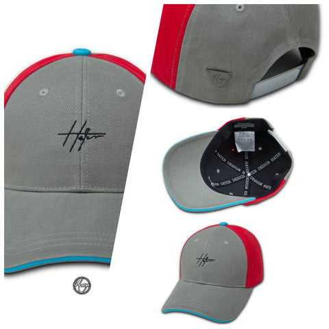 HATER Clunky Cap - Gray/Red