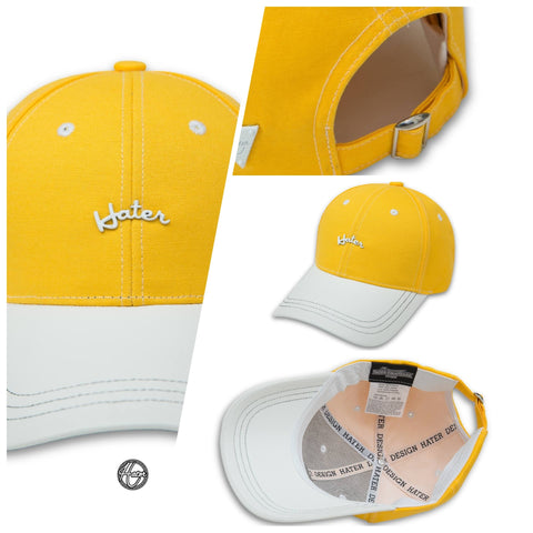 HATER Curved Logo Cap Ver. 2 - Yellow