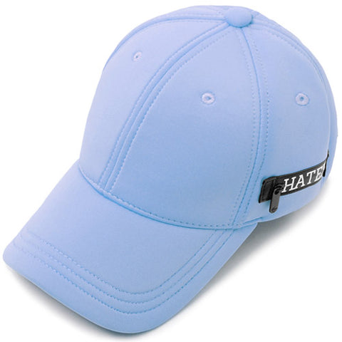 Neoprene Zippered Snapback - Light Blue