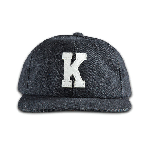 "Hater X Karl Alley Leather ""K"" Patch Snapback - Denim"