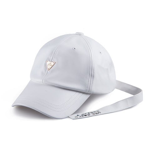 HATER Long Strap Cap - White