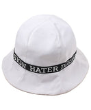 Ribbon Bucket Hat - White